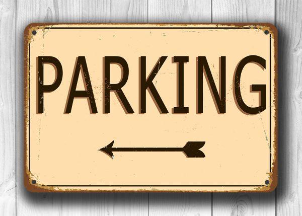 Vintage Parking Sign