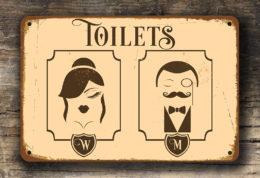 Vintage Toilet Sign