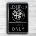 Alfa Romeo Garage Sign