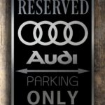 Audi Garage Sign Audi Car Parking