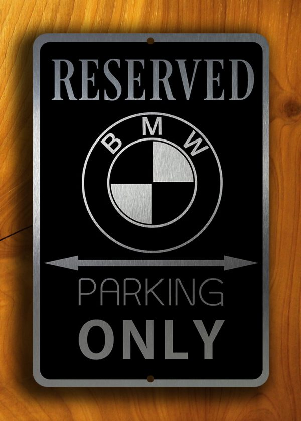 BMW Parking Only Sign Metal BMW Sign Garage Decor - Bmw parking only signs