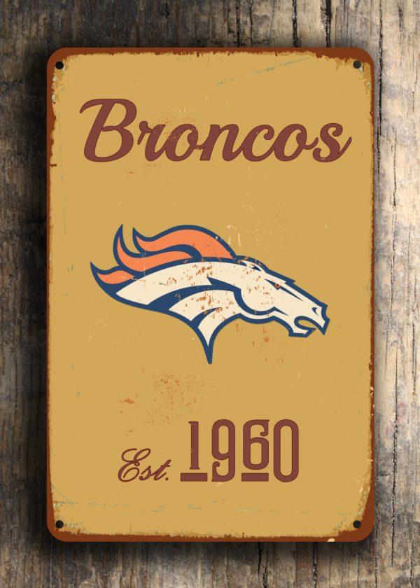 Denver Broncos Logo Sign American Football Signs