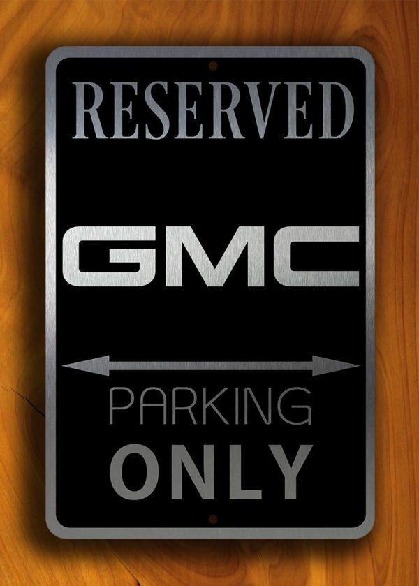 Brushed Metal GMC Sign