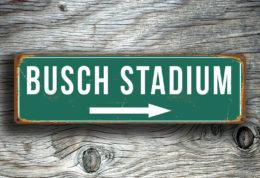 BUSCH STADIUM SIGN