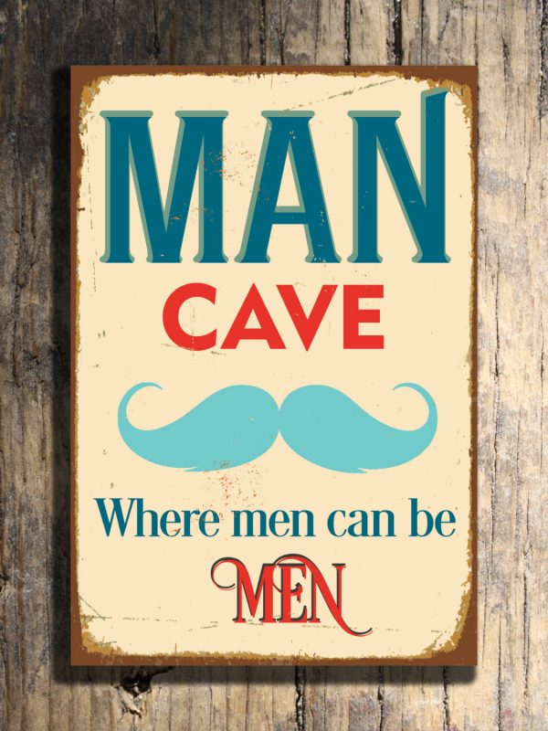 Classic Man Cave Tickets : Man cave signs classic metal