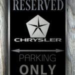 Chrysler Garage Sign