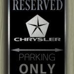 Chrysler Parking sign