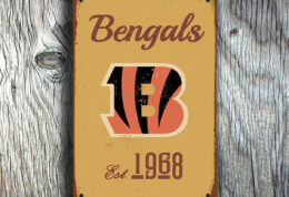 Cincinnati Bengals Logo Sign