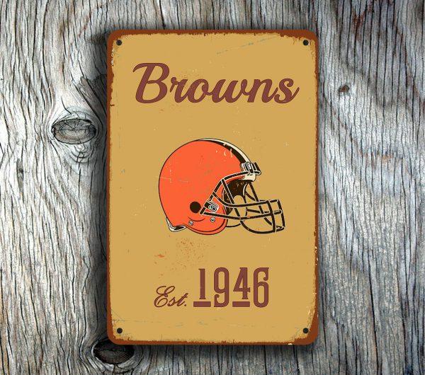 Cleveland Browns Logo Sign