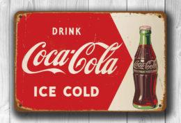 COCA COLA SIGN Vintage style