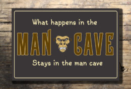 Cool Man Cave Sign