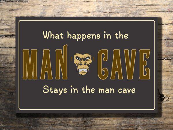 cool man cave sign classic metal signs. Black Bedroom Furniture Sets. Home Design Ideas