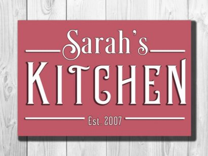 PERSONALIZED KITCHEN SIGN   Classic Metal Signs
