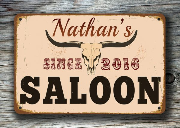 PERSONALIZED SALOON SIGN
