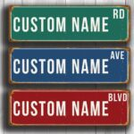Personalized Street Sign