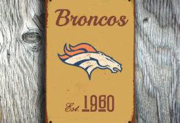 Denver Broncos Logo Sign