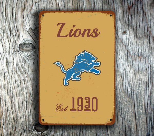 DETROIT LIONS Sign