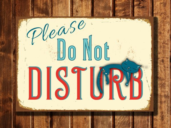 Do Not Disturb Sign Classic Metal Signs