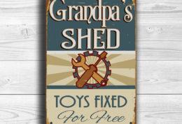 GRANDPAS SHED SIGN