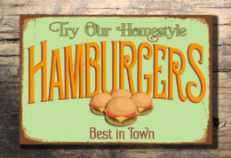 HAMBURGERS RESTAURANT SIGN