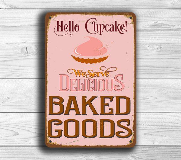 Hello Cupcake Bakery Sign