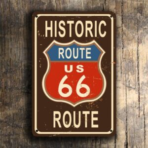 Highway Route 66 Sign