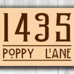 Address number sign