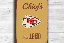Kansas City Chiefs Logo Sign