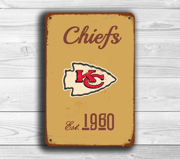Kansas City Chiefs Logo Sign