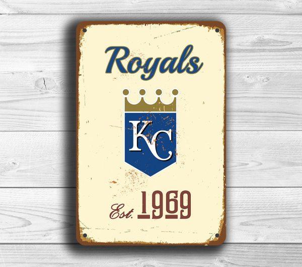 Kansas City Royals Sign Classic Metal Signs