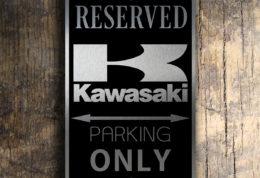 KAWASAKI RESERVED PARKING Sign