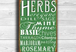 Kitchen Herbs Sign