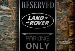 LAND ROVER RESERVED PArking Sign