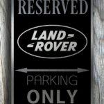 Land Rover Garage Sign