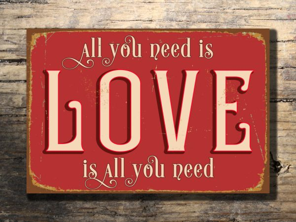 love sign wall hanging classic metal signs