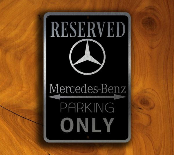 Mercedes Parking Only Sign Mercedes Gifts Garage Signs - Bmw parking only signs