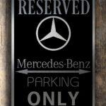 Mercedes Garage Sign
