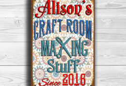CUSTOM CRAFT ROOM Sign