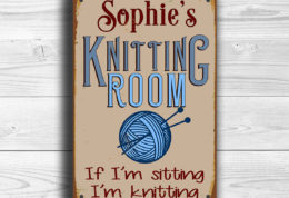 CUSTOM KNITTING ROOM Sign