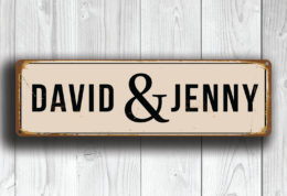 PERSONALIZED WEDDING COUPLE Street Sign