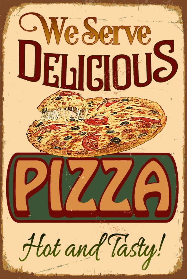 Pizza Restaurant Sign Classic Metal Signs