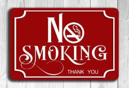 Red No Smoking Sig