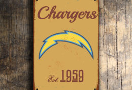 San Diego Chargers Logo Sign