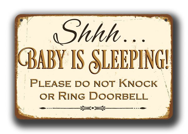 Shhh Baby Is Sleeping Sign Classic Metal Signs