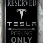 Tesla Garage Sign