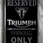 Triumph Garage Sign