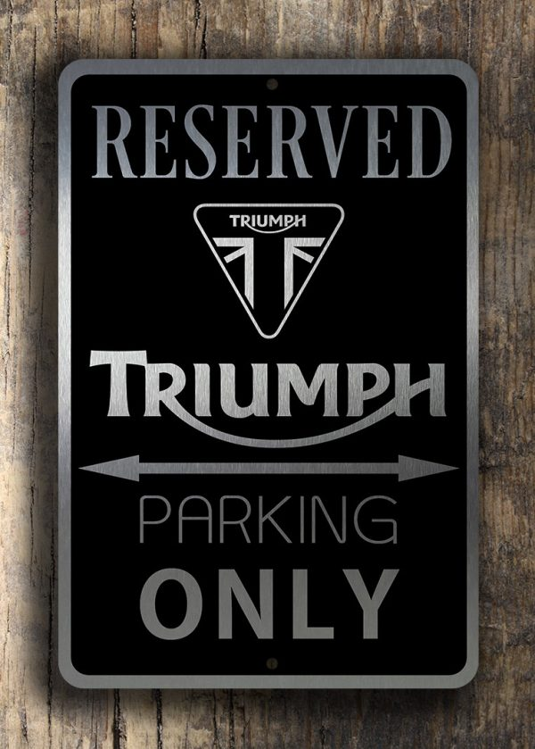 Triumph Parking Only Sign Triumph Garage Signs Classic Metal Signs - Bmw parking only signs