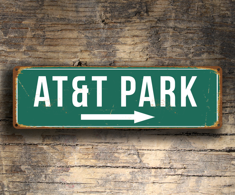 Vintage style ATandT Park Sign
