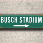 Vintage style Busch Stadium Sign