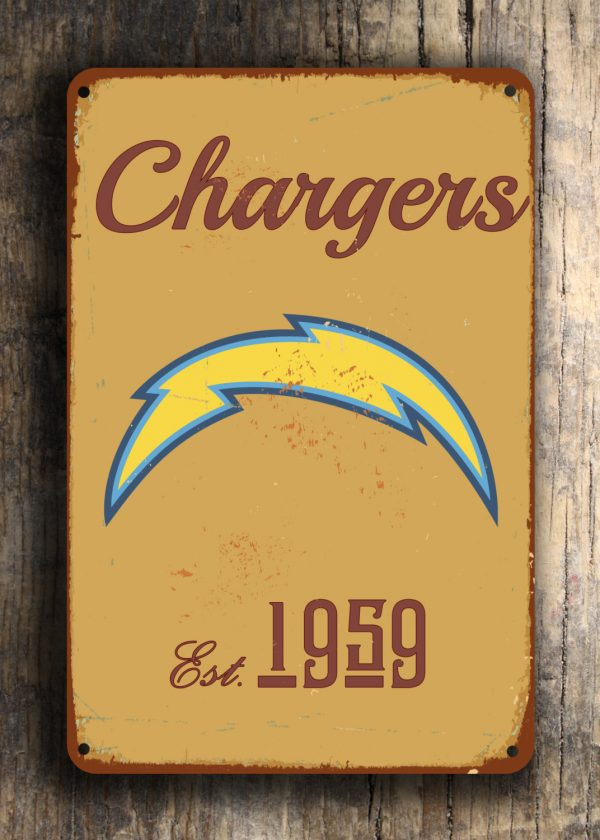 San Diego Chargers Logo Sign Classic Metal Signs